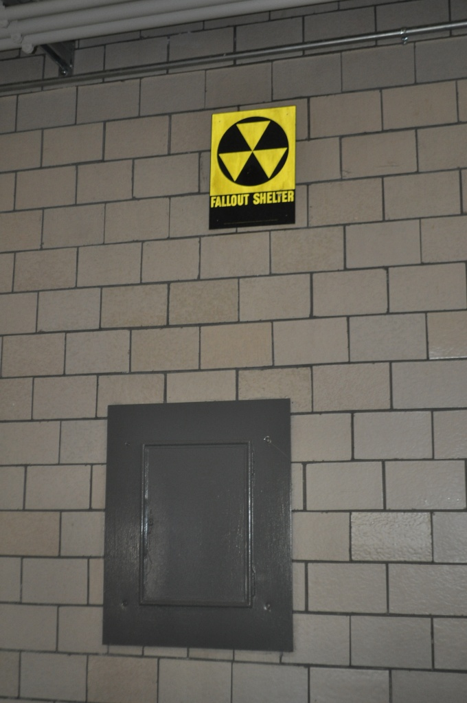 Up Academy/Patrick Gavin School-Interior Fallout Shelter sign