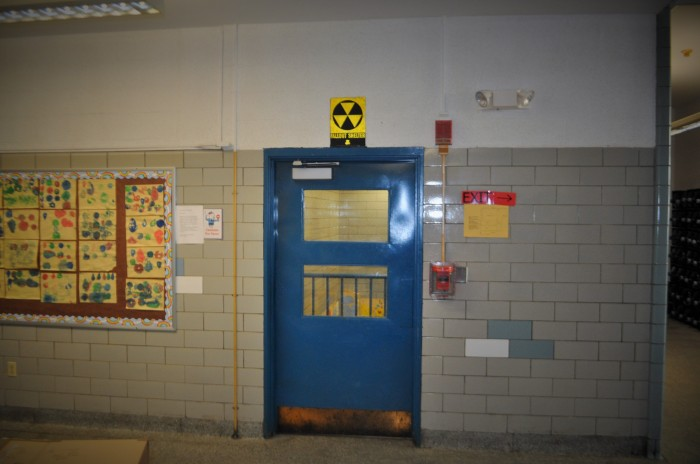 Guild Elementary School-Interior Fallout Shelter Sign