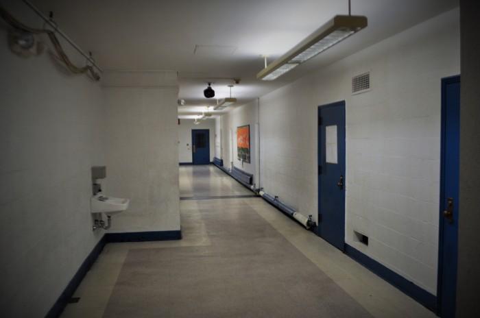 Guild Elementary School-Basement Hallway