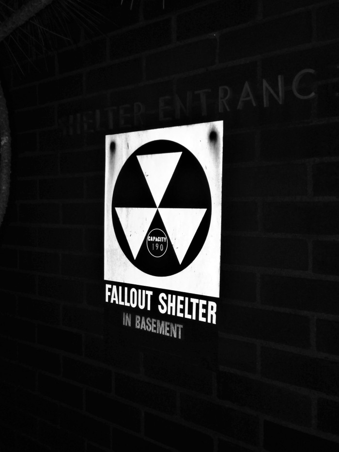 Fallout Shelter Sign-Boston Veterinary Clinic
