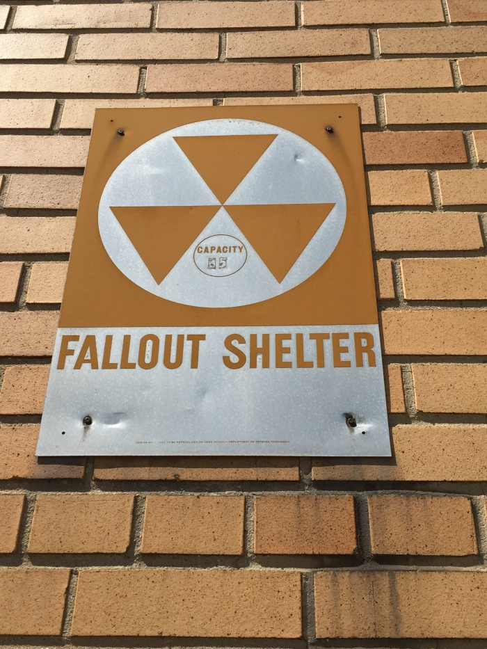 St. Mary's School Lockport NY exterior fallout shelter sign
