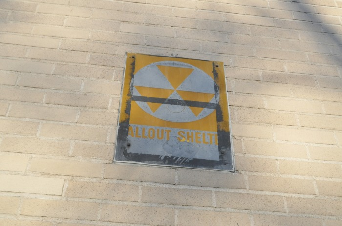 Fallout Shelter sign on a Chase Bank in Manhattan - New York City
