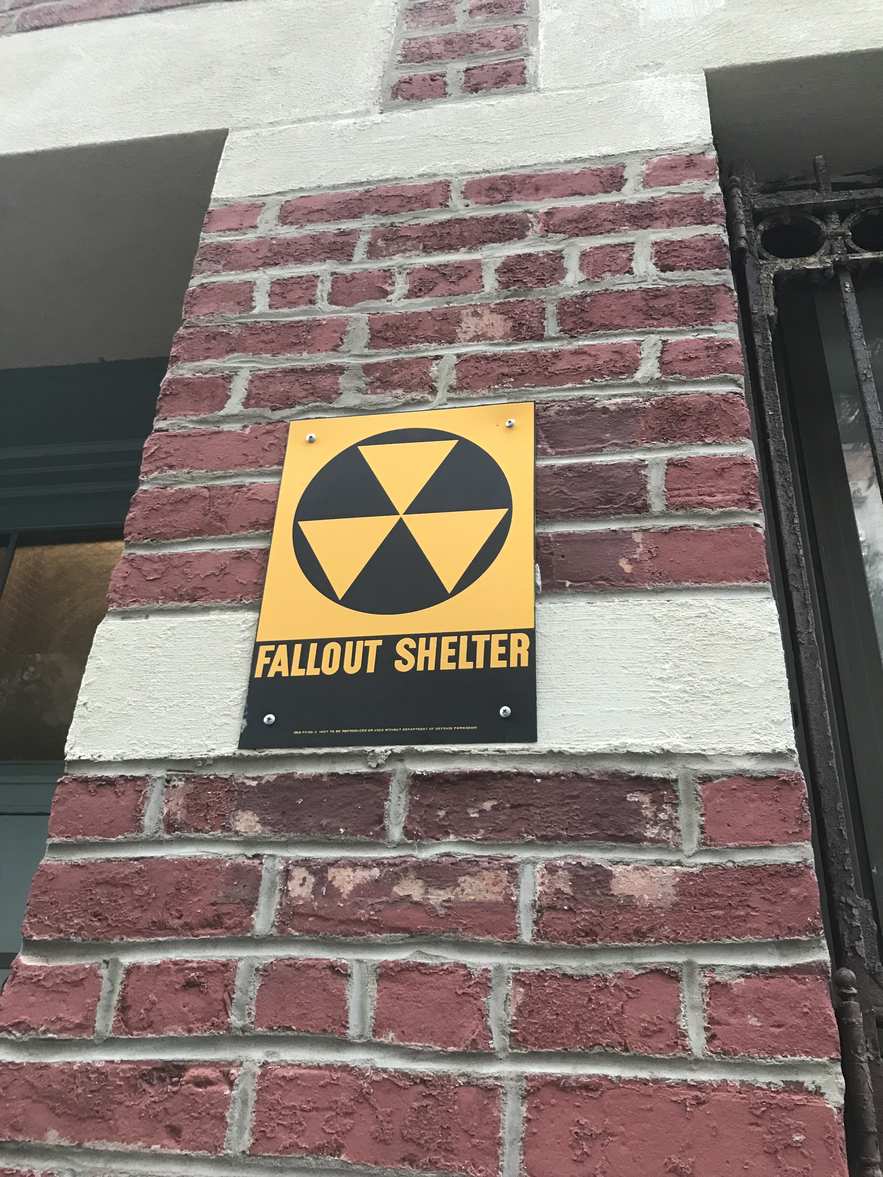 New Fallout Shelter sign put up on Manhattan apartment building